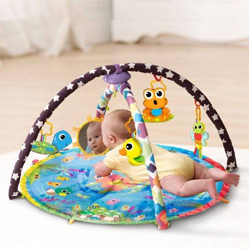 【奇買親子購物網】Lamaze 拉梅茲 嬰幼兒玩具-動感小青蛙交響樂墊