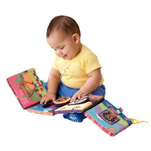 【奇買親子購物網】Lamaze 拉梅茲 嬰幼兒玩具-發現可愛動物形狀布書