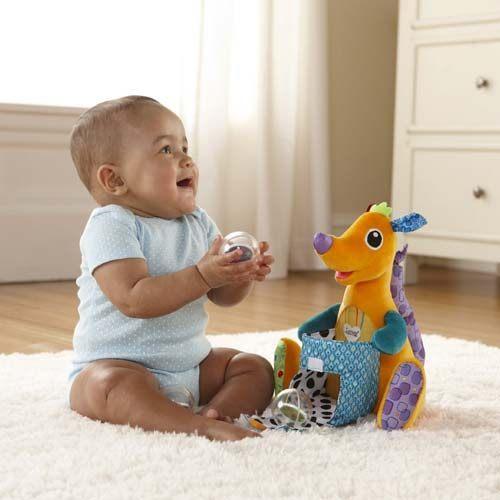 【奇買親子購物網】Lamaze 拉梅茲 嬰幼兒玩具-丟丟撿撿小袋鼠