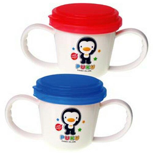 【奇買親子購物網】藍色企鵝 PUKU Petit 多功能防漏零食杯