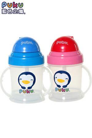 【奇買親子購物網】PUKU 彈跳吸管練習杯(藍/粉)