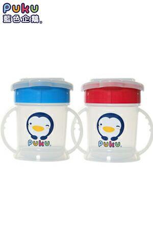 【奇買親子購物網】PUKU 3段式喝水練習杯(藍/粉)