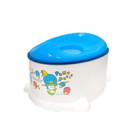 【奇買親子購物網】藍色企鵝 PUKU Petit 三合一便器