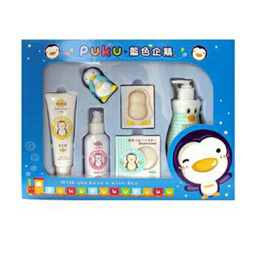 【奇買親子購物網】PUKU沐浴保養禮盒組F