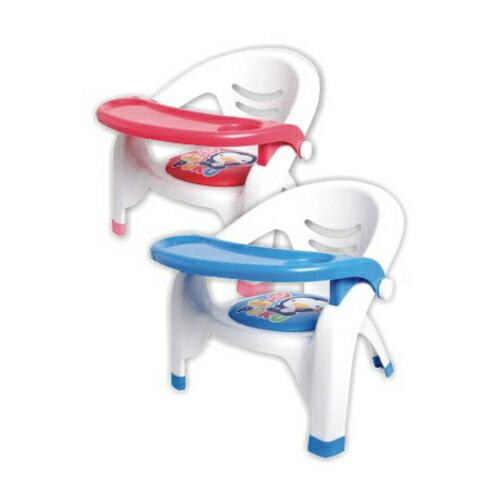 【奇買親子購物網】藍色企鵝 PUKU Petit 餐盤兒童椅
