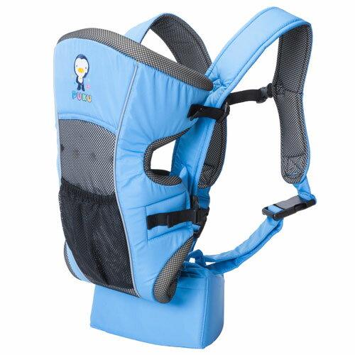 【奇買親子購物網】藍色企鵝 PUKU Petit 三向護腰揹巾