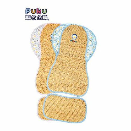 【奇買親子購物網】藍色企鵝 PUKU Petit 推車涼蓆坐墊-(藍色/粉色)