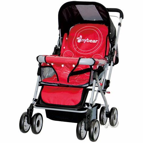 【奇買親子購物網】湯尼熊 Tony Bear 嬰兒加寬雙向推車(附蚊帳)