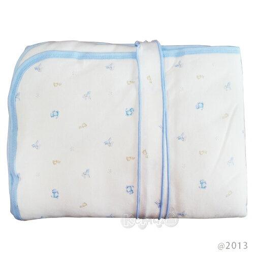 【奇買親子購物網】舒適牌 SCHICK 冬季純棉抱毯包巾 (藍/粉)
