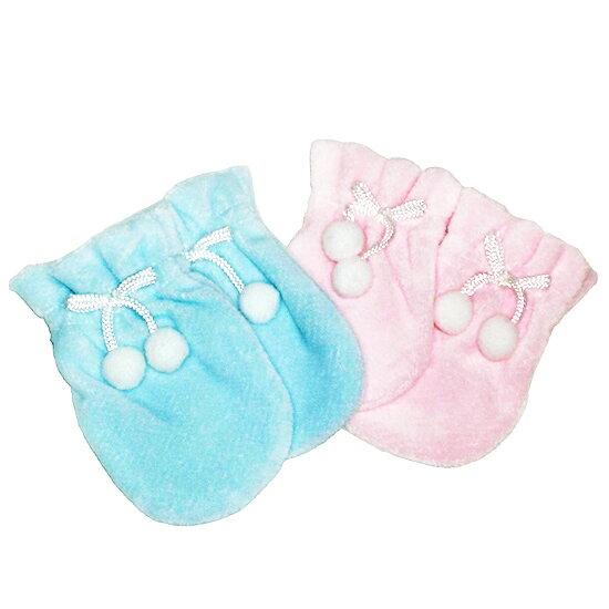 【奇買親子購物網】黃金海獺 秋冬嬰兒手套(藍/粉紅)