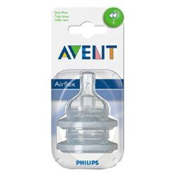 【奇買親子購物網】AVENT 慢流量防脹奶嘴(二個圓孔)