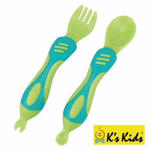 ~奇買親子 網~K #x27 s Kids Chunky Spoon   Fork Set 奇智奇思湯叉組