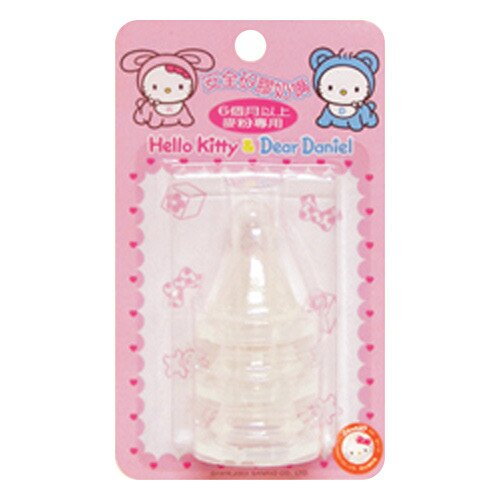 【奇買親子購物網】Hello Kitty 矽膠奶嘴/6個月以上(麥粉專用)-3入