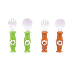 【奇買親子購物網】小獅王辛巴simba安全餐具組-(橘/綠)