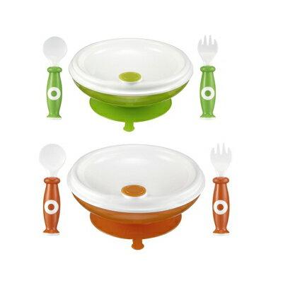 【奇買親子購物網】小獅王辛巴simba保溫吸盤餐具組-(橘/綠)