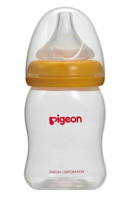 【奇買親子購物網】貝親PIGEON寬口母乳實感PP奶瓶160ml/橘