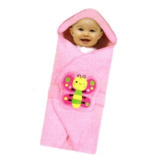 【奇買親子購物網】拉孚兒 naforye 3IN1 嬰兒春夏田園包巾被(蝴蝶/蜜蜂/瓢蟲)