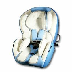 【奇買親子購物網】BabyBabe 多段式坐臥兩用汽車座椅-(藍/紅)