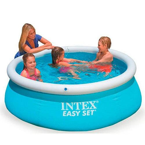 【奇買親子購物網】INTEX疊型充氣家庭游泳池(183cm*51cm)