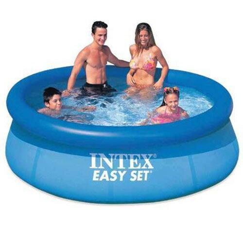 【奇買親子購物網】INTEX疊型充氣家庭大游泳池(244cm*76cm)