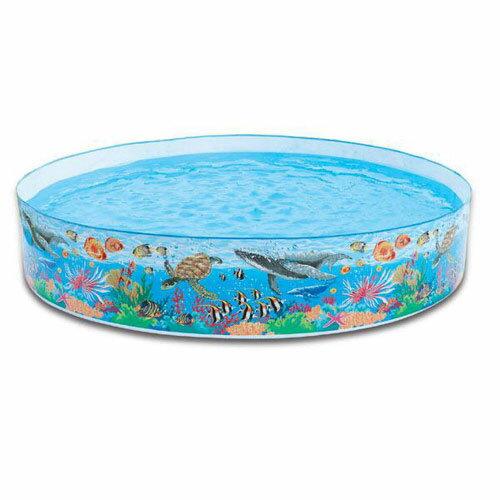 【奇買親子購物網】INTEX 海底王國硬膠泳池(免充氣)(244cm*46cm)