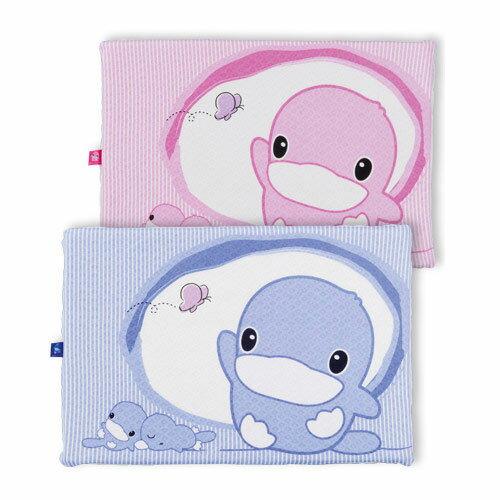 【奇買親子購物網】酷咕鴨KU.KU. 親水防蹣透氣乳膠枕(藍/粉)