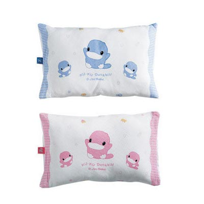 【奇買親子購物網】酷咕鴨 KU.KU. 親水透氣幼兒枕(藍色/粉色)