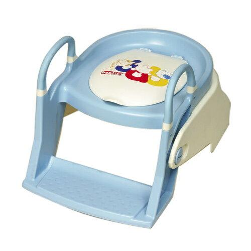 【奇買親子購物網】培寶bab兩段式階梯學習馬桶