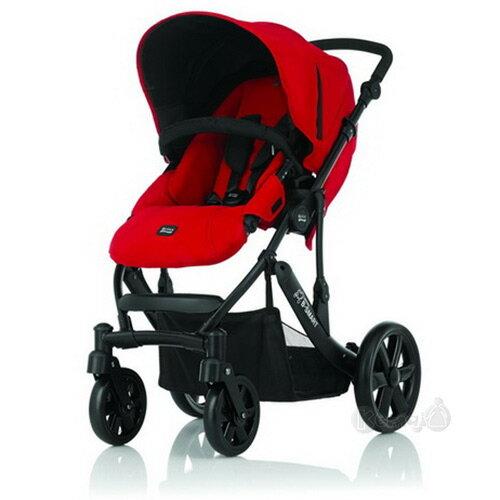 【奇買親子購物網】英國Britax-B-SMART四輪雙向手推車(紅色)