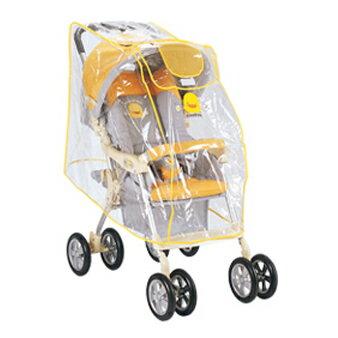 【奇買親子購物網】黃色小鴨嬰兒手推車專用雨罩