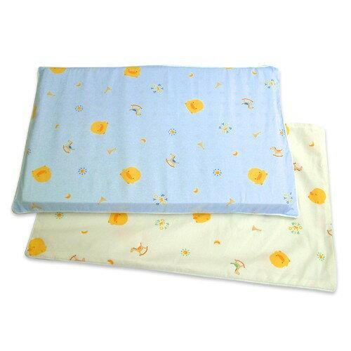 【奇買親子購物網】黃色小鴨PiYOPiYO抗菌木馬枕套+枕心(藍粉)