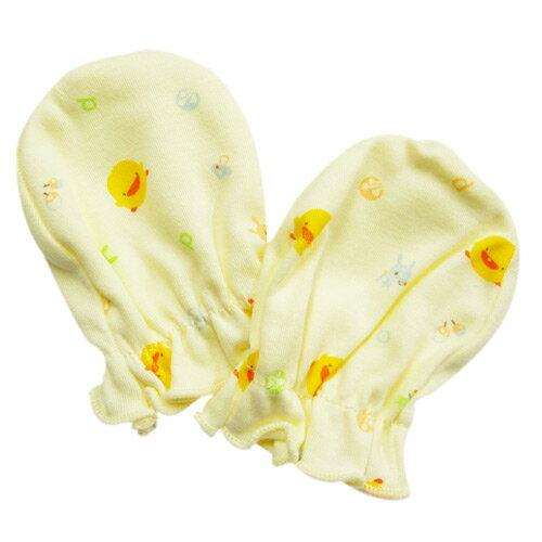 【奇買親子購物網】黃色小鴨 PiYO PiYO 嬰兒手套-(藍/粉/黃)