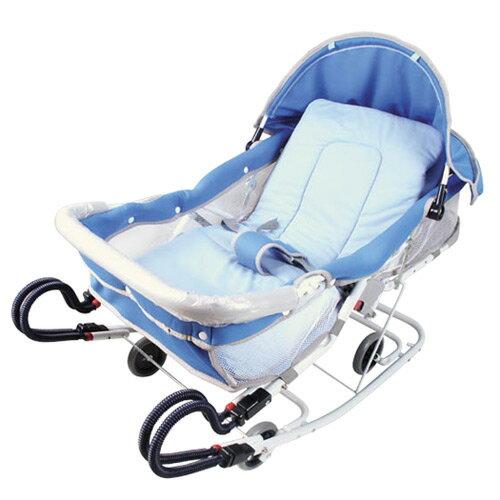 【奇買親子購物網】MONARCH 雙管加寬六段可調彈搖椅(卡其/藍色)