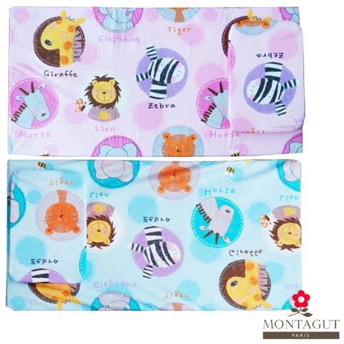 【奇買親子購物網】法國夢特嬌MONTAGUT 嬰幼兒乳膠床墊+乳膠枕頭