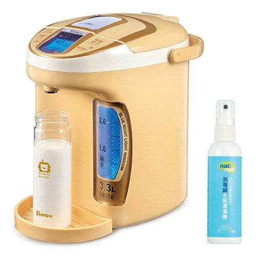 【奇買親子購物網】小獅王辛巴simbaLCD5段式定溫調乳器+NAC NAC 消毒鍋水垢清潔劑