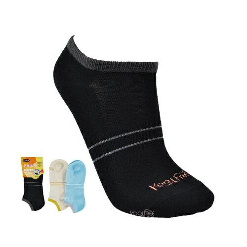 【奇買親子購物網】旅行家koolfree 防黴排汗腳背條紋船襪