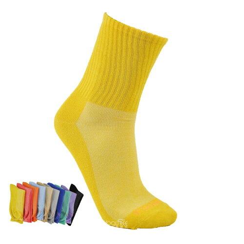 【奇買親子購物網】旅行家koolfree 防黴排汗彩色寬口羅紋3/4高統襪 (顏色隨機出貨)