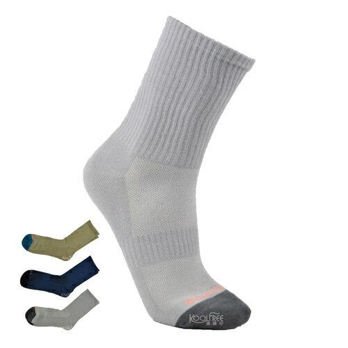【奇買親子購物網】旅行家koolfree 防黴排汗無痕羅紋休閒襪