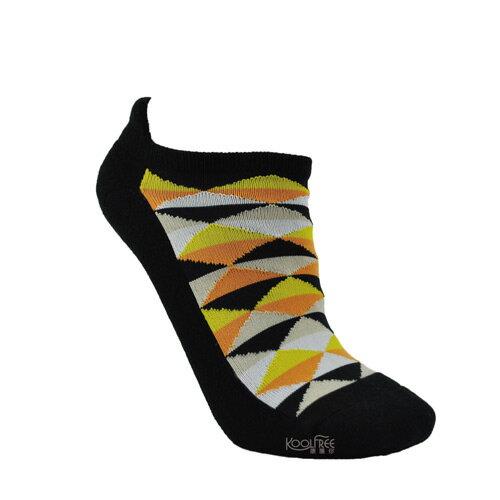 【奇買親子購物網】旅行家koolfree防黴排汗毛圈護踝船型襪-菱格