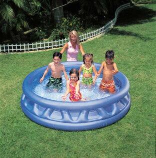 【奇買親子購物網】INTEX軟邊造型吹氣泳池(軟邊188cmx46cm)