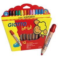 【奇買親子購物網】GIOTTO BEBE 可洗式寶寶木質蠟筆(12色) 0
