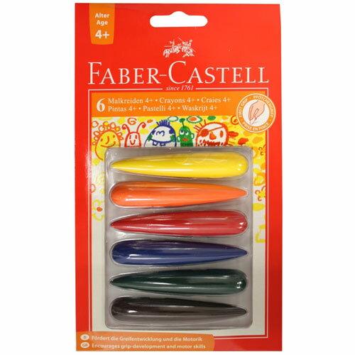 ~奇買親子 網~德國輝柏 Faber~Castell 子彈可擦拭學齡蠟筆~6色
