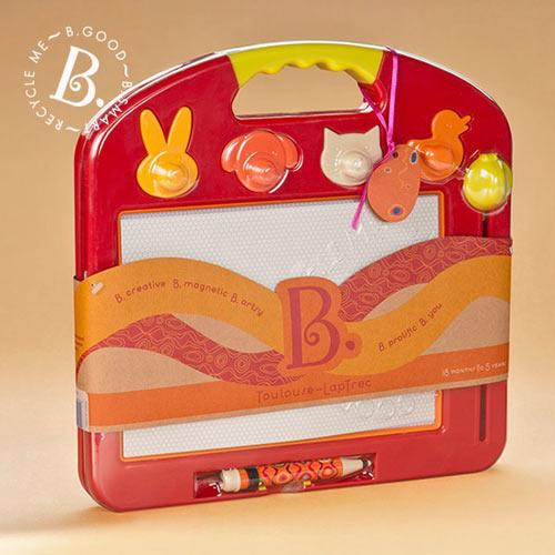 【奇買親子購物網】美國B.Toys 塗黑黑磁繪板