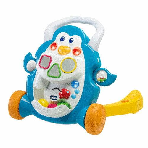 【奇買親子購物網】義大利CHICCO 二合一企鵝音樂助步車