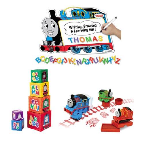【奇買親子購物網】湯瑪士吸磁劃板+疊疊塔+印章組-3入聖誕節特賣