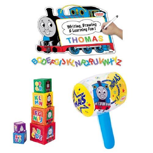 【奇買親子購物網】湯瑪士 吸磁劃板+疊疊塔+充氣槌聖誕節特賣