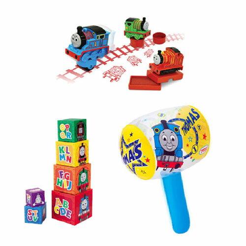 【奇買親子購物網】湯瑪士 疊疊塔+印章組-3入+充氣槌 聖誕節特賣