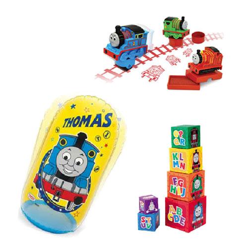 【奇買親子購物網】湯瑪士疊疊塔+印章組-3入+充氣打擊袋聖誕節特賣