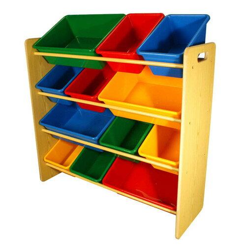 奇買親子購物網:【奇買親子購物網】兒童四層玩具收納架【台灣製造】