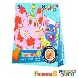 【奇買親子購物網】Crayon Rocks 酷蠟石畫畫好朋友8色